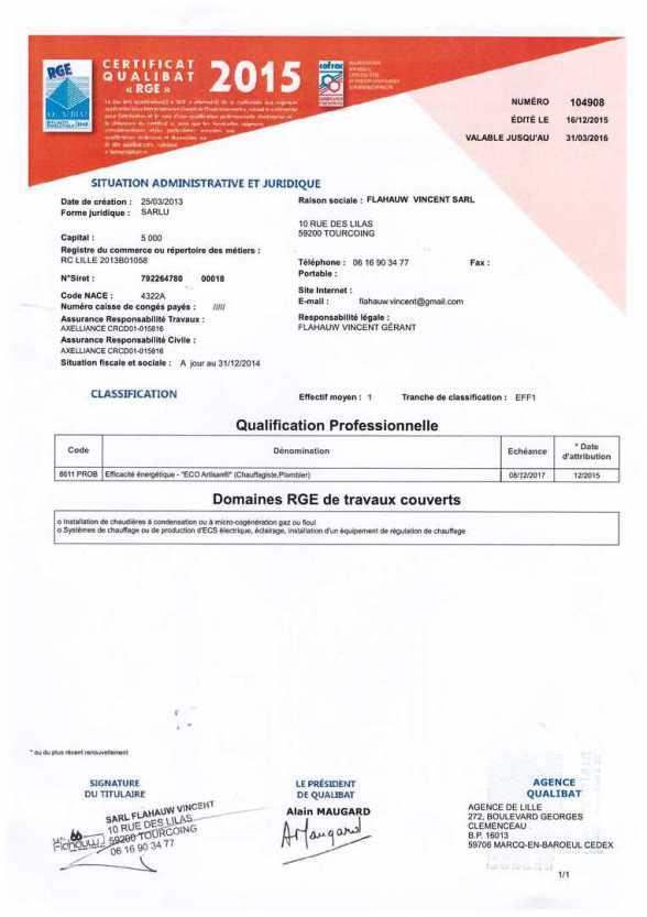Prime co nergie cr dit d 39 imp t votre plombier chauffagiste sur tourcoing est rge - Auchan eco energie ...